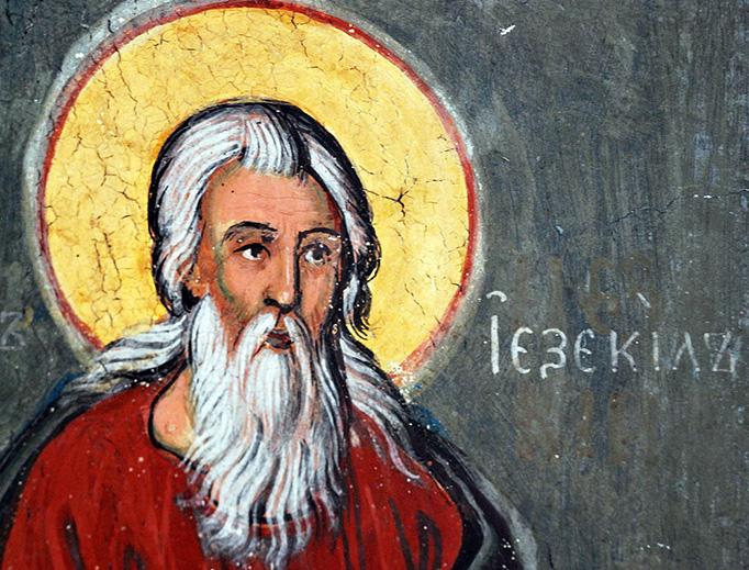 A fresco from St. John the Baptist Church in Kratovo, Macedonia