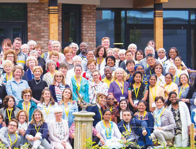 Sisters and associates of the Institute of the Blessed Virgin Mary gather for the Mary Ward Conference in York, England.