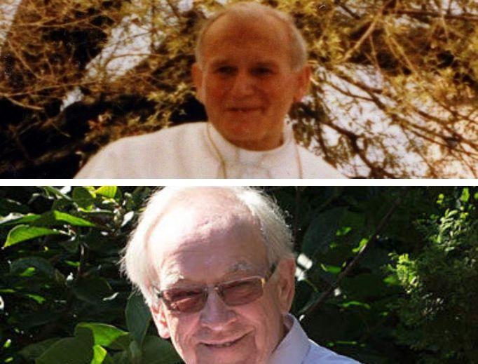Top: Pope John Paul II. Bottom: Professor Karol Tarnowski.