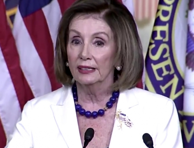 Speaker of the House Nancy Pelosi at a press conference on Capitol Hill, December 5, 2019.