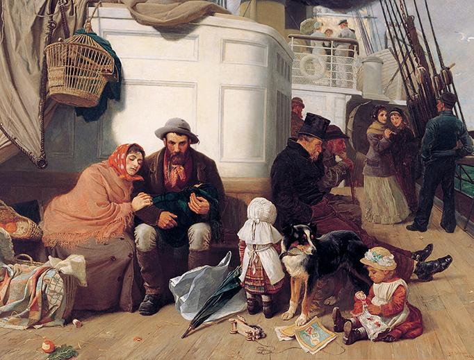 "John C. Dollman, ""The Immigrants' Ship"", 1884"