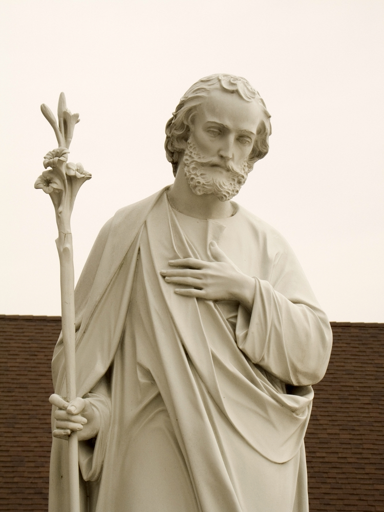 Statues of St. Joseph belong in churches, not buried underground.