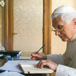 What did former Pope Benedict say when he took an Italian atheist to the woodshed?