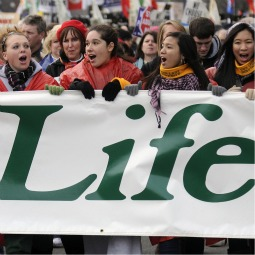 YOUNG PEOPLE FOR LIFE. March for Life participants make their way up Constitution Avenue to the Supreme Court building in Washington Jan. 22.