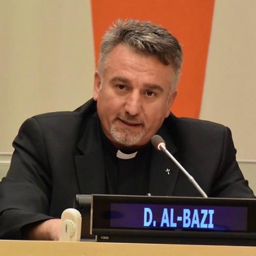 Father Douglas al-Bazi, an Iraqi-Catholic parish priest in Erbil, speaks April 28 during the #WeAreN2016 Congress in New York.