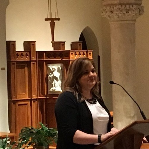 Abby Johnson speaks at Georgetown University on April 20.