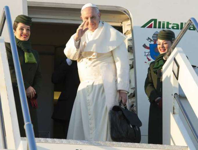 Pope Francis departs Rome for Santiago,Chile, on Jan. 15.