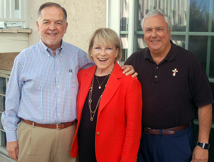 L to R: Michael Aimola, Virginia Sullivan, Deacon Steve Greco
