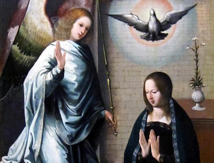 "Juan de Flandes, ""The Annunciation,"" c. 1500"