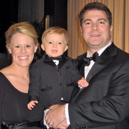 CATHOLIC FAMILY. Matthew and Meggie Kelly with their son, Walter.