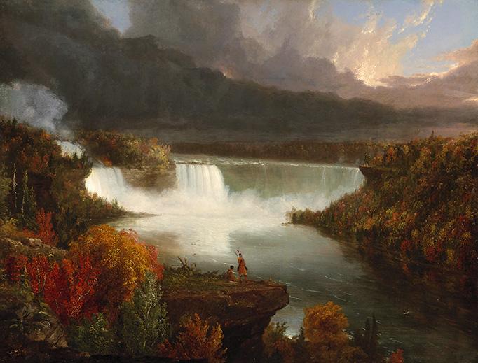 "Thomas Cole, ""Distant View of Niagara Falls,"" 1830"