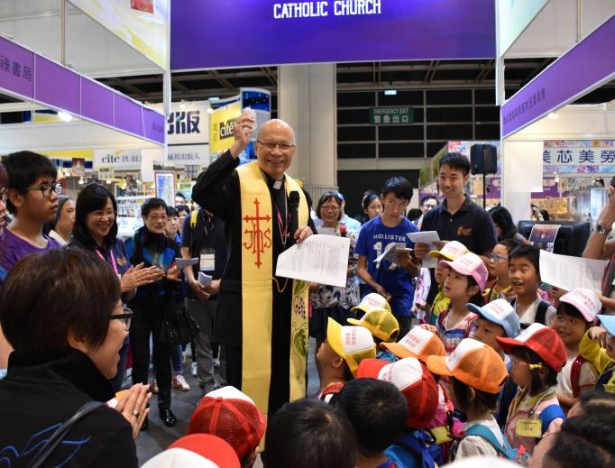 Bishop Michael Yeung Ming-cheung at a recent book fair.