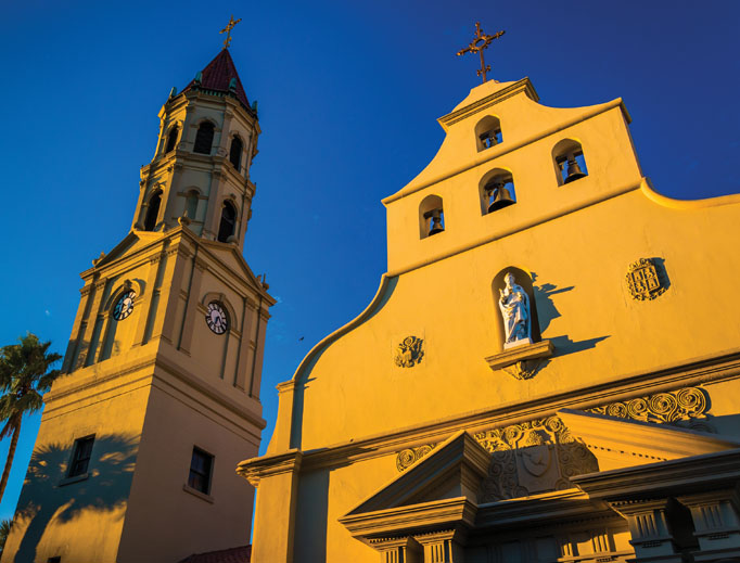 The Cathedral-Basilica in St. Augustine is a vital part of Catholic history in the United States because it is the country's first parish. The city of St. Augustine was founded in 1565 and coincides with the location of the first Mass on U.S. soil.
