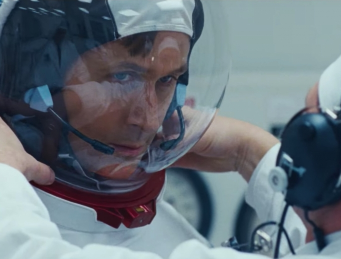 THE RIGHT STUFF. Ryan Gosling portrays intrepid astronaut Neil Armstrong in First Man.