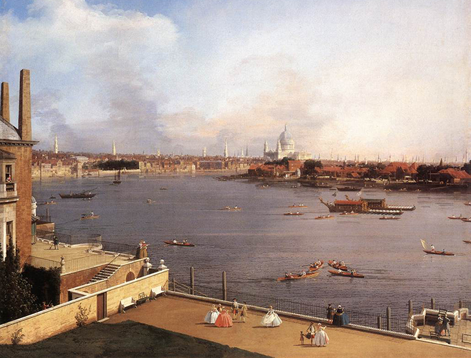 "Canaletto, ""The Thames and the City of London from Richmond House"", 1747"