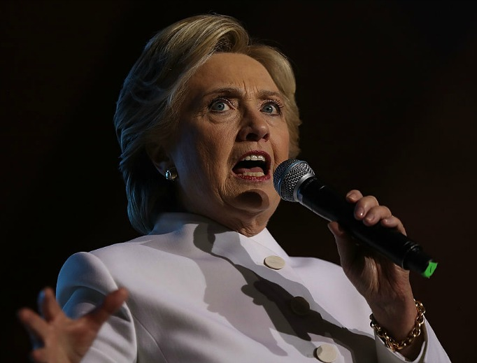 Democratic presidential nominee Hillary Clinton speaks during a debate watch party at Craig Ranch Regional Amphitheater following the third U.S. presidential debate on Oct. 19 in Las Vegas.