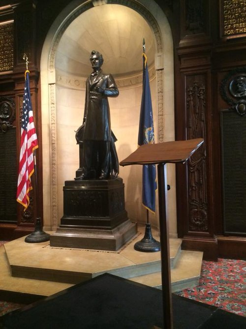 The famous Gettysburg Lectern