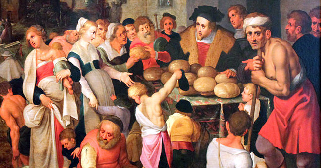 """Frans Francken the Younger (1581-1642), """"The Seven Works of Mercy"""""""