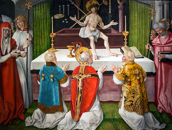 """""""Mass of St. Gregory,"""" Cleveland Museum of Art"""