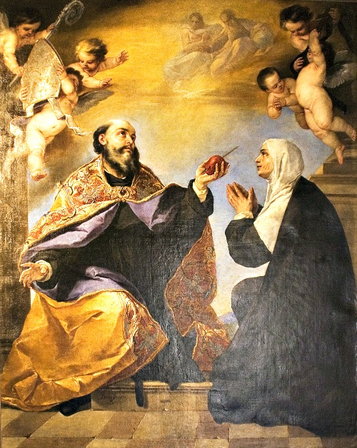 St. Augustine and his mother, St. Monica; below, Brandon Vogt