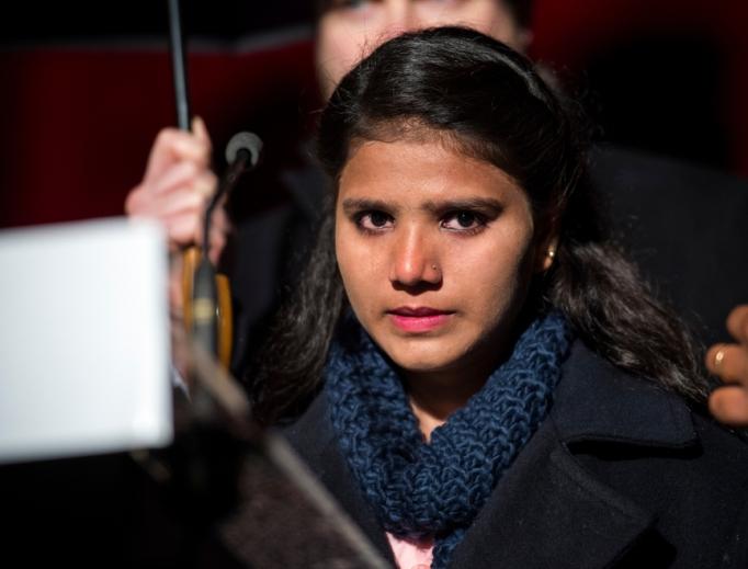 Esham Masih, daughter of Asia Bibi, in Rome Feb. 24, 2018.