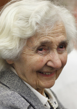 Alice von Hildebrand, widow of philosopher Dietrich von Hildebrand, attends a conference presented by the Dietrich von Hildebrand Legacy Project in Rome May 27. The conference explored the late von Hildebrand's philosophy of love.