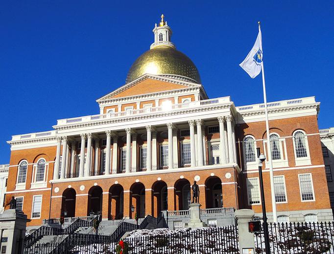 The Massachusetts State House in Boston
