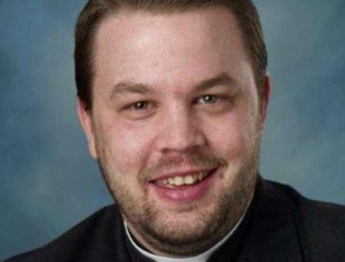 Father Harrison Ayre, pastor of Holy Family Notre Dame parish in Port Alberni, British Columbia.