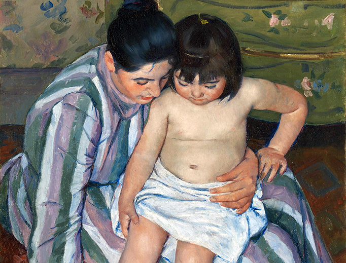 "Mary Cassatt (1844–1926), ""The Child's Bath"""