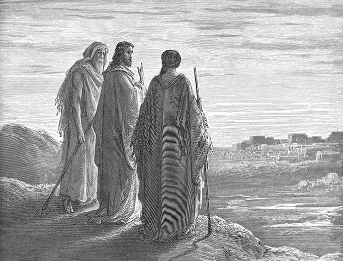 "Gustav Doré (1832-1883), ""The Road to Emmaus"""