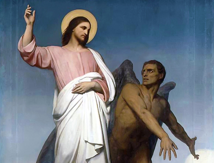 "Ary Scheffer, ""The Temptation of Christ"", 1854"