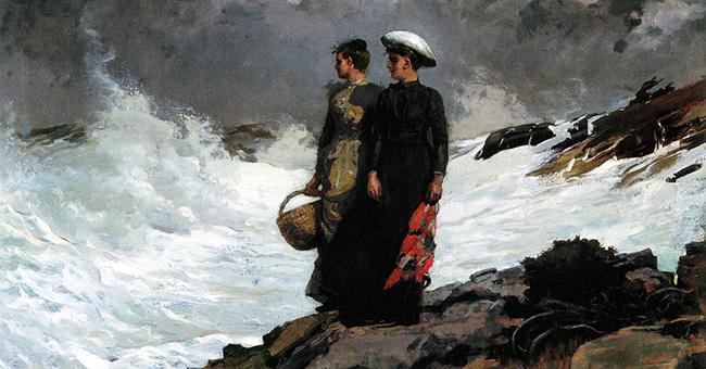 "Winslow Homer, ""Watching the Breakers"" (1891)"