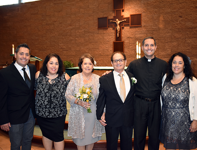 Father Anthony Sortino with his family