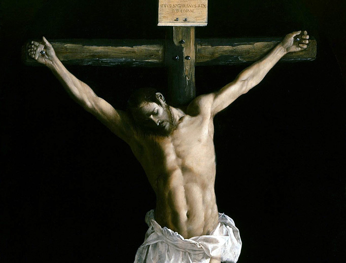 "Ephesians 5:25: ""Husbands, love your wives, as Christ loved the Church and gave Himself up for her..."" (Image: Francisco de Zurbarán, ""Christ on the Cross"", 1627)"