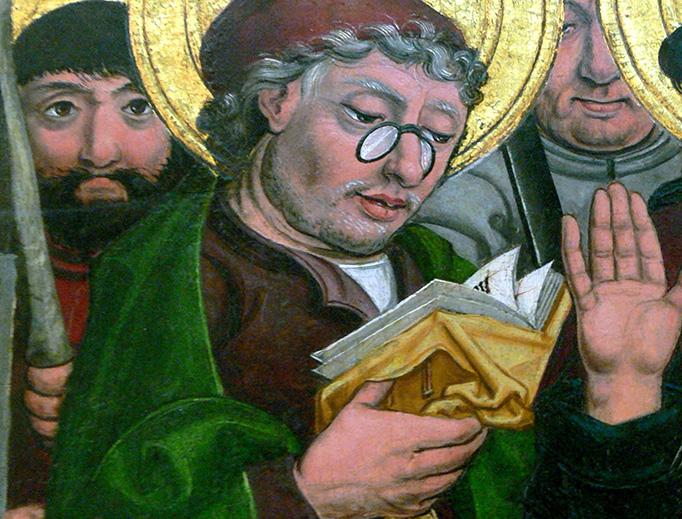 Saint Matthias, from 'Christ and the Apostles', Friedrich Herlin, 1499