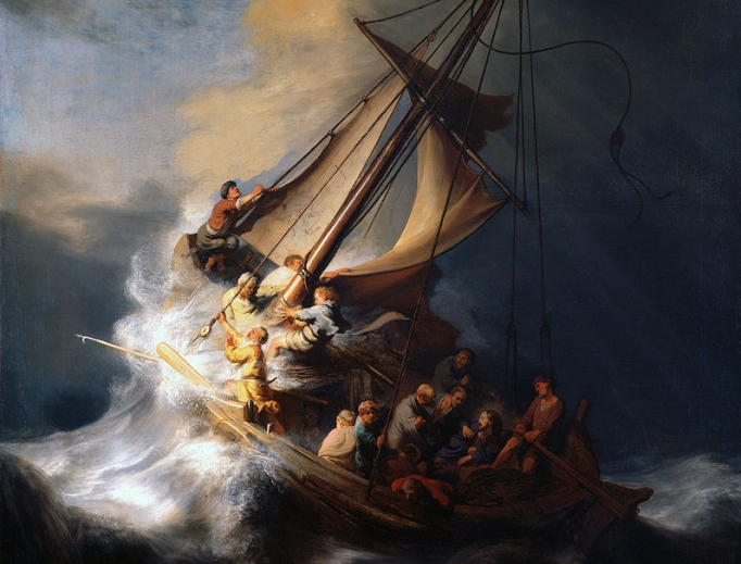 """Rembrandt, """"Christ in the Storm on the Lake of Galilee"""""""
