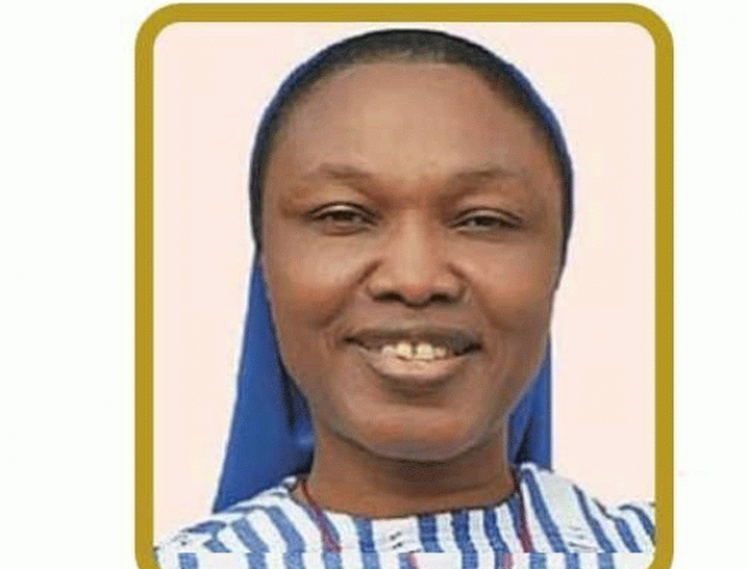 Sister Henrietta Alokha of the Sisters of the Sacred Heart of Jesus died while rescuing students at Bethlehem Girls High School in Lagos, Nigeria, after a gas explosion March 15, 2020.