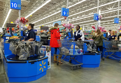 Workers who are employed at a fast-food restaurant part time and then add a job at a superstore, such as Walmart, may see a reduction in government benefits.