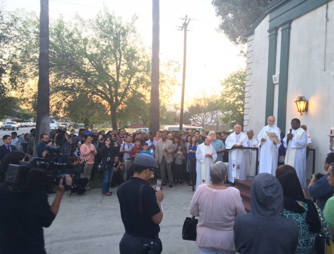Prayer service at Our Lady of the Assumption after tragic shooting April 10 at North Park Elementary.