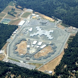 Aerial view of Pelican Bay Prison