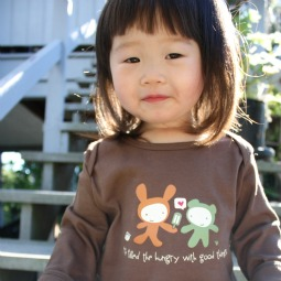 CUTE + CATHOLIC. Each of SaintlyTees' products has a cute illustration with a Scripture verse or Christian saying on the bottom.