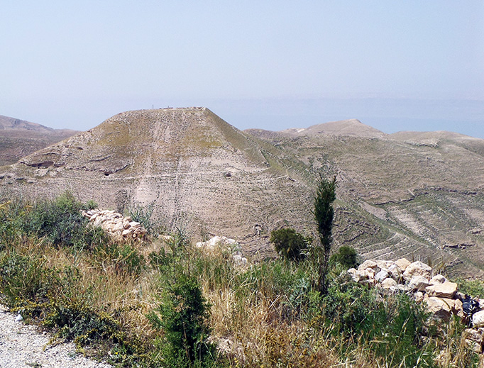 Muqawir, or Machaerus, was the site of Herod's palace where St. John the Baptist was imprisoned.