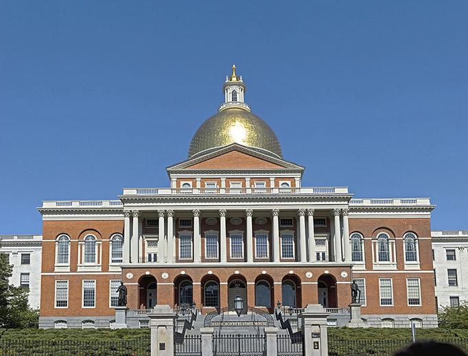 The Massachusetts State House in Boston.