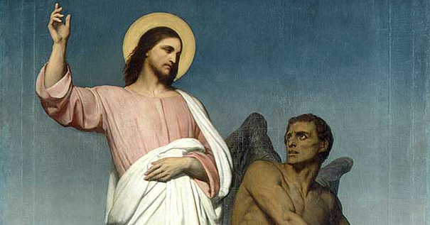 "Ary Scheffer (1795–1858), ""The Temptation of Christ"""