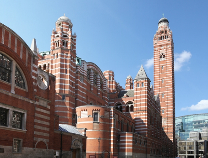 Westminster Cathedral in London.