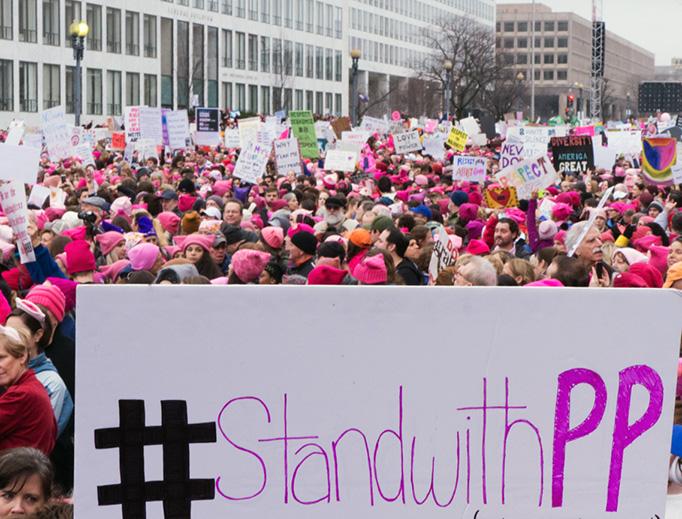 The Women's March on Washington on Jan. 21, 2017.