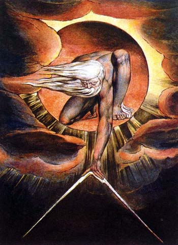 """William Blake's """"Ancient of Days"""" was inspired by Proverbs 8:27: """"When he prepared the heavens, I was there: when he set a compass upon the face of the depth."""" (Blake's personal beliefs about the Creator were a peculiar offshoot of gnosticism.)"""