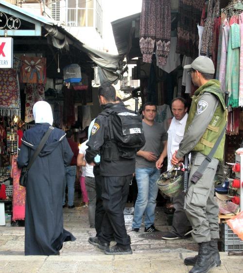 Jerusalem police patrol the Old City of Jerusalem.