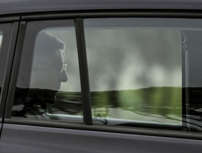 Australian Cardinal George Pell leaves after being released from Barwon Prison near Anakie, on April 7.