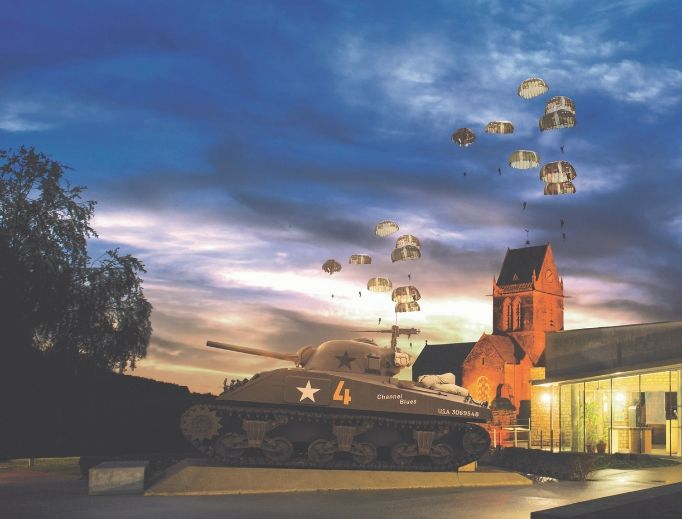 Key to D-Day remembrances in Normandy are re-enactments, parades and exhibits at the Airborne Museum and in the church square of Saint-Mère-Eglise, France, as are commemorations at American cemeteries and other towns in the region.